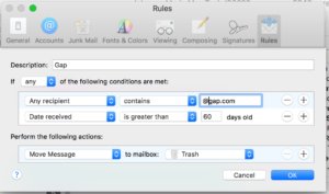 Apple Mail Filters